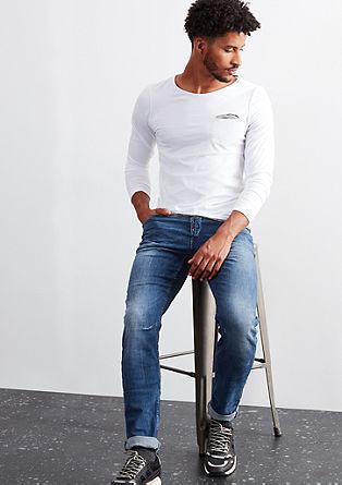 Modre jeans hlače s strečem za večje udobje