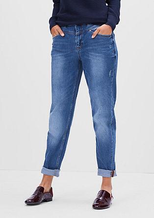 Mom Fit:Volné džíny s vysokým pasem