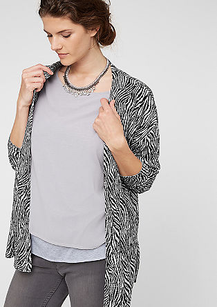 Monochrome cardigan from s.Oliver