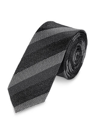 Monochrome silk tie from s.Oliver