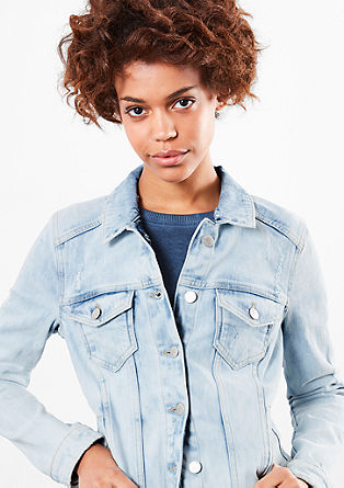 Moon-washed denim jacket from s.Oliver