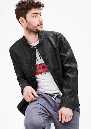 Motoristična jakna v videzu usnja