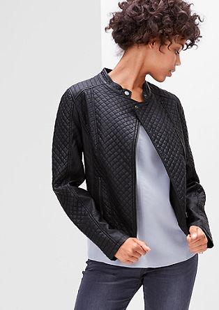 Motorkářská bunda s prošívaným vzorem