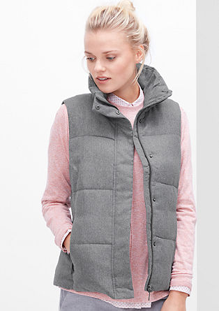 Mottled body warmer from s.Oliver