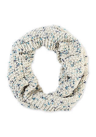 Mottled cable knit snood from s.Oliver