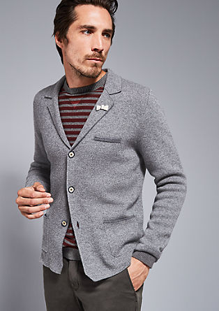 Mottled cardigan in a jacket look from s.Oliver