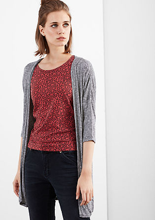Mottled cardigan with batwing sleeves from s.Oliver