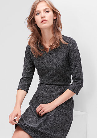 Mottled jersey dress with a belt from s.Oliver