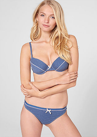 Mottled jersey push-up bra from s.Oliver