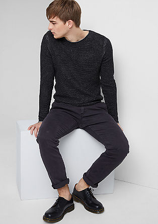 Mottled jumper made from textured knit fabric from s.Oliver