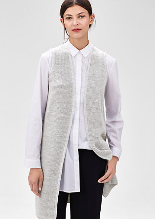 Mottled knitted waistcoat from s.Oliver