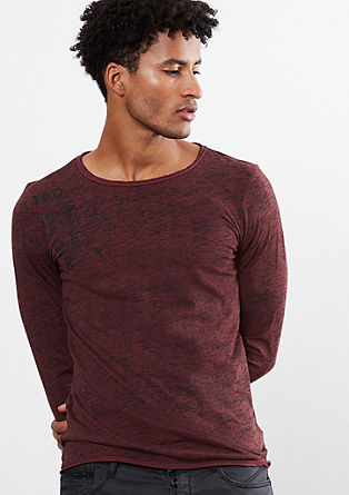 Mottled long sleeve top with lettering from s.Oliver