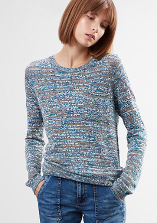 Mottled slub yarn jumper from s.Oliver