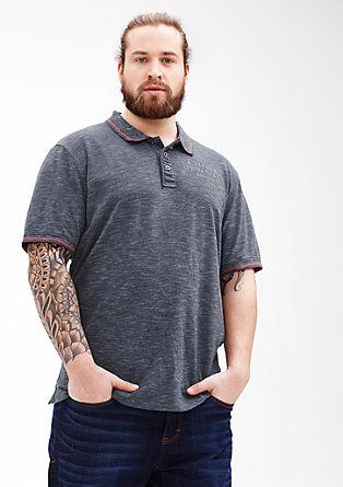Mottled slub yarn polo shirt from s.Oliver