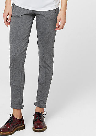 Mottled stretch trousers from s.Oliver