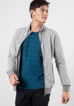 Mottled sweatshirt jacket with a zip from s.Oliver