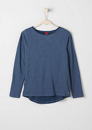Mottled T-shirt in a layered look from s.Oliver