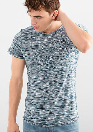 Mottled T-shirt with a slub yarn effect from s.Oliver
