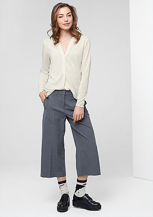 Mottled top in blended linen from s.Oliver