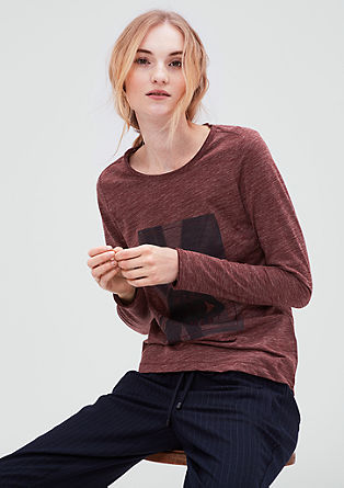 Mottled top with a photo print from s.Oliver