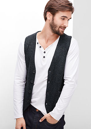 Mottles cardigan with wool from s.Oliver