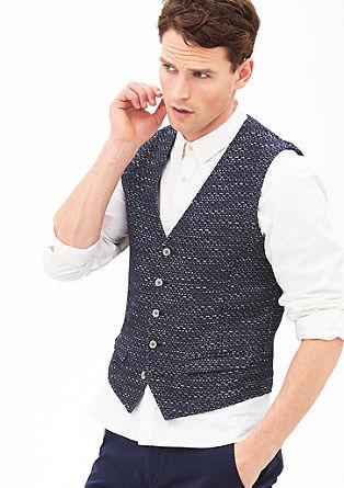 Mouwloos vest in een bouclé look