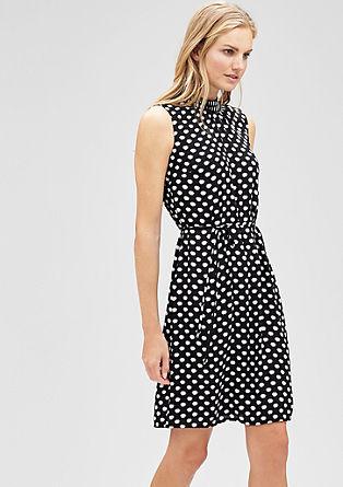 Mouwloze jurk met strikkoordje