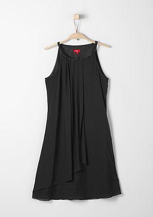 Mrežasta obleka s svetlečimi kamenčki
