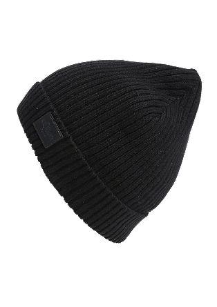Mütze aus Baumwoll-Rippstrick