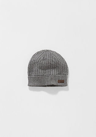 Mütze aus Strukturstrick
