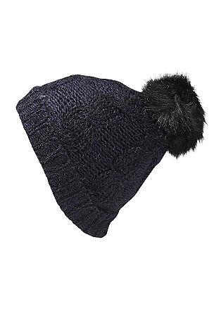 Mütze mit flauschigem Fancy-Garn