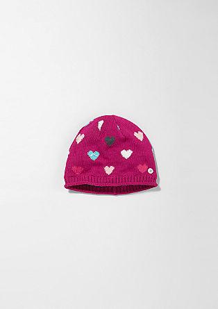 Mütze mit Herzchen-Muster