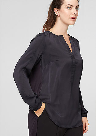 Mullet-style blouse in a mix of fabrics from s.Oliver
