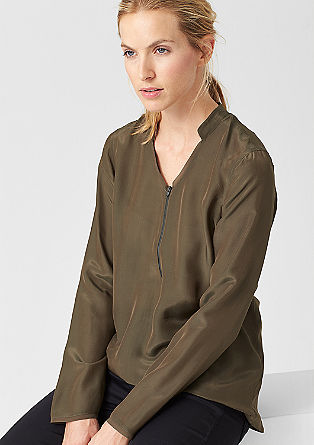 Mullet-style blouse in a silk blend from s.Oliver