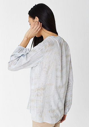 Mullet-style blouse with a printed pattern from s.Oliver