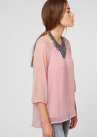 Mullet-style blouse with raglan sleeves from s.Oliver