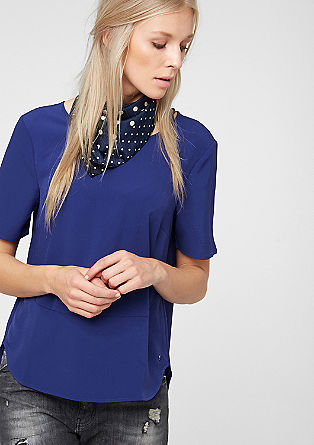 Mullet-style chiffon blouse from s.Oliver