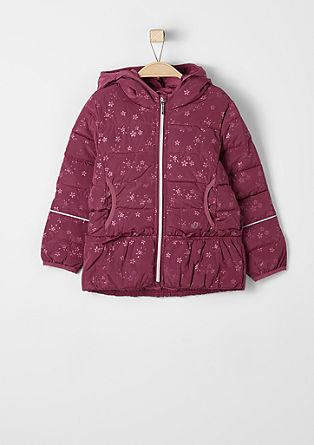 Multi-functional, patterned quilted jacket from s.Oliver