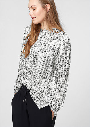 Multi-print satin blouse from s.Oliver