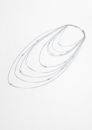 Multi-strand necklace with rhinestone from s.Oliver
