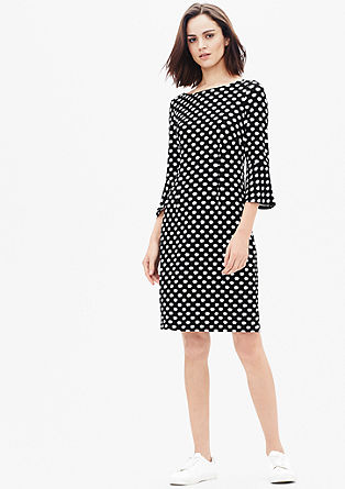 Muster-Kleid aus festem Jersey