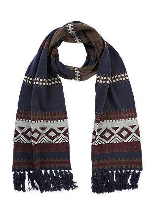 Muster-Schal mit Fransen