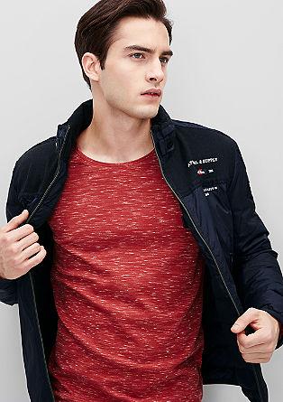 Najlonska jakna iz kombinacije materialov