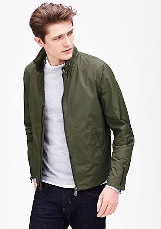 Najlonska jakna z rebrastimi detajli