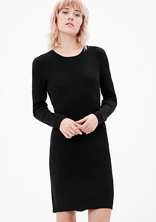 Narrow rib knit dress from s.Oliver