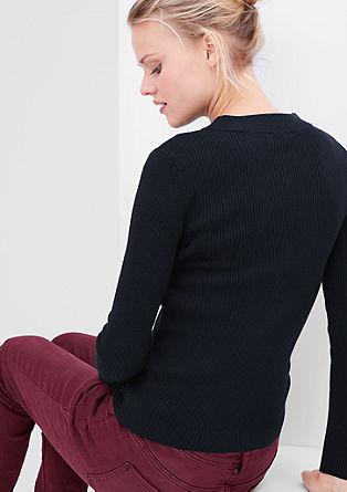 Narrow rib knit jumper from s.Oliver