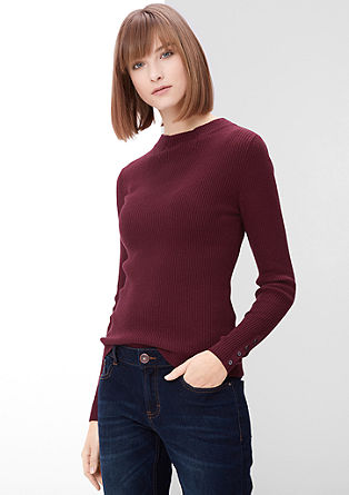 Narrow rib knit jumper from s.Oliver