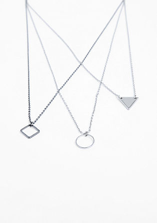 Necklace in a geometric look from s.Oliver