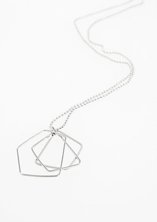 Necklace with a geometric pendant from s.Oliver