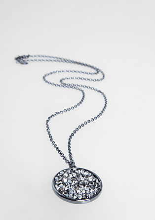 Necklace with a sparkling pendant from s.Oliver